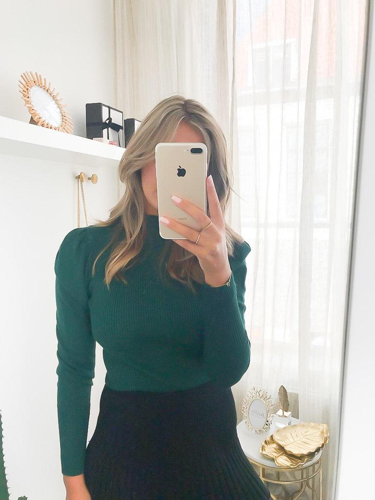 YU & ME Jumper Puff Sleeve Green