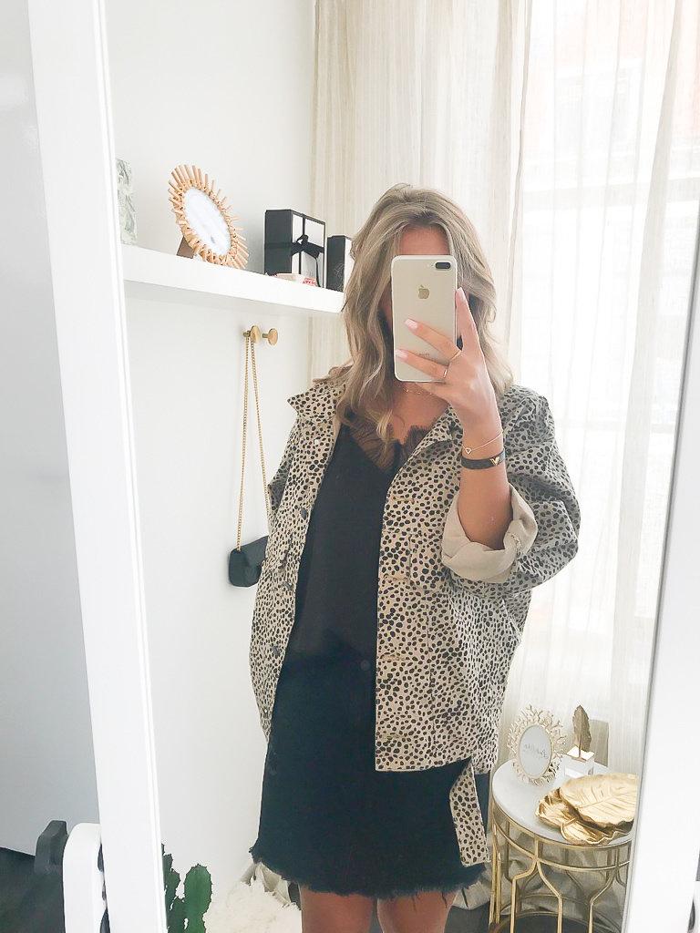 KAYCEE Dots Jacket Camel