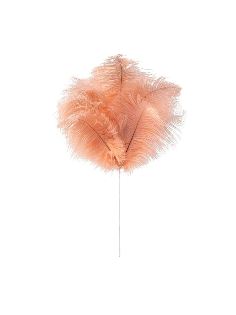 LADYLIKE FASHION Colored Feathers with steel with real feather pink