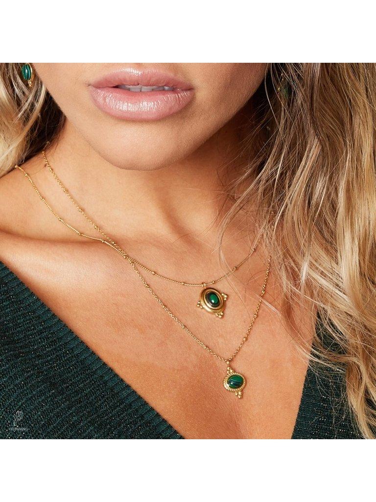 LADYLIKE FASHION Necklace mystic jewel green
