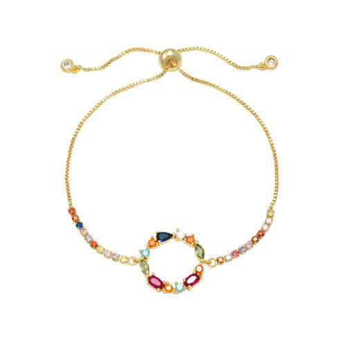 LADYLIKE FASHION Bracelet Zirconia Chique Circle