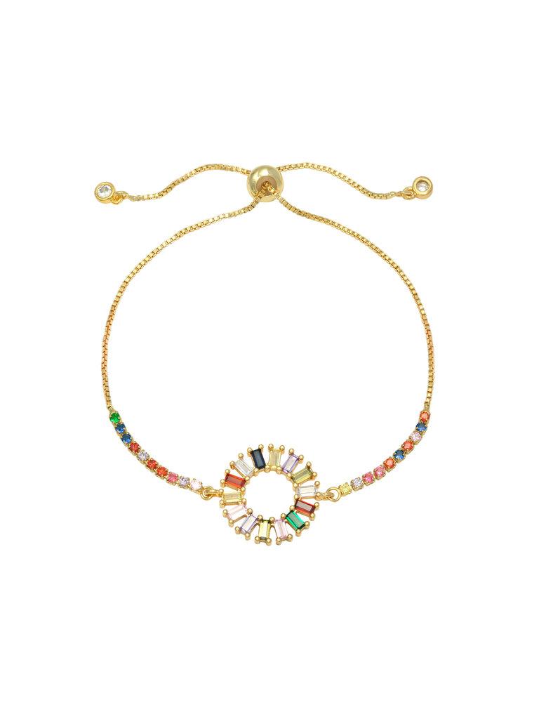 LADYLIKE FASHION Bracelet Zirconia Circle