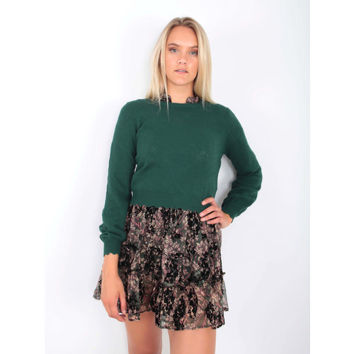 BISOU'S PROJECT Sweet Knit Jumper Green