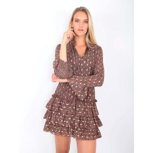 IVIVI Tulip Print Dress Brown