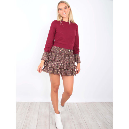 BISOU'S PROJECT Sweet Knit Jumper Red