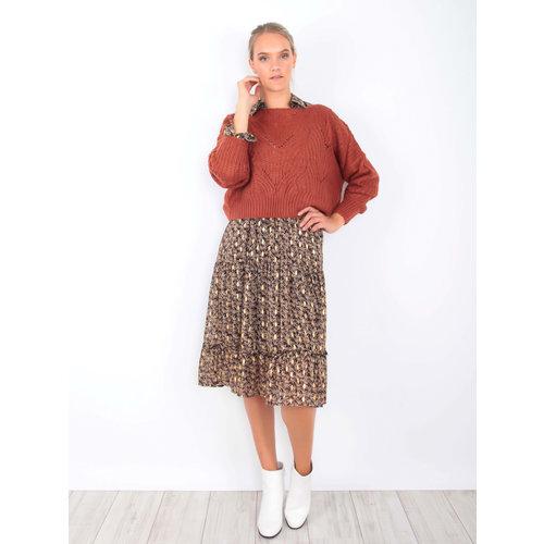 VINTAGE DRESSING -LADYLIKE FASHION Knit Crop Jumper Rust