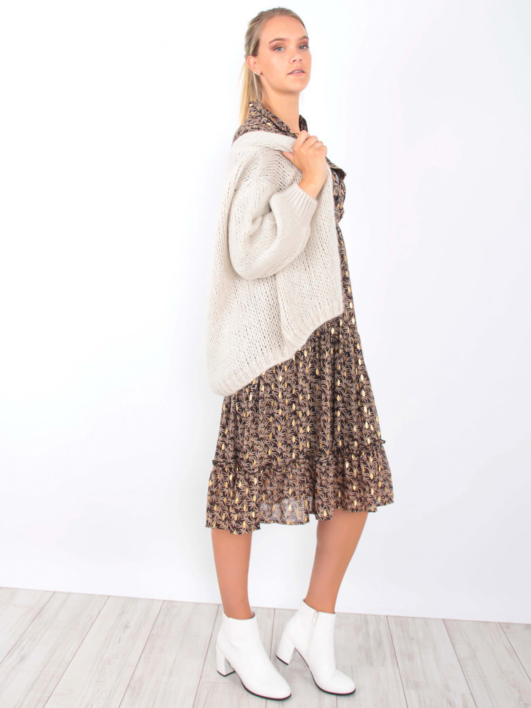 ALEXANDRE LAURENT Knitted Cardigan Taupe