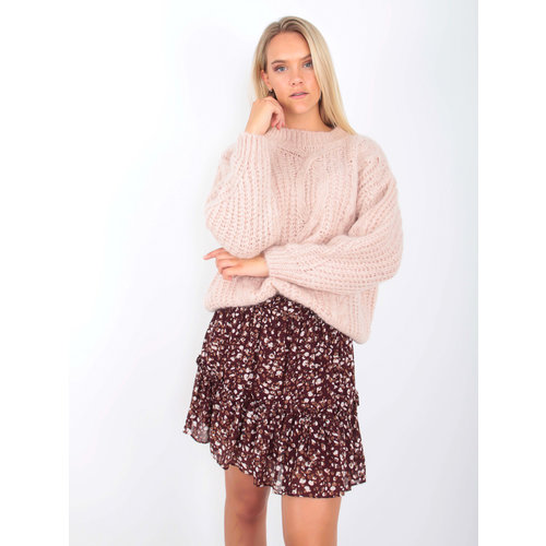 NAÏS - LADYLIKE FASHION Cable Knit Jumper Soft Pink