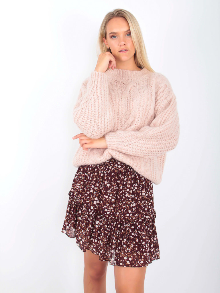 NAÏS Cable Knit Jumper Soft Pink
