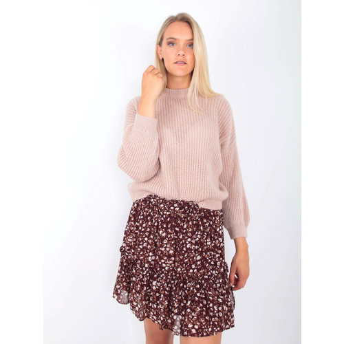 MISS MISS Knitted Jumper with Shimmer Pale Rose