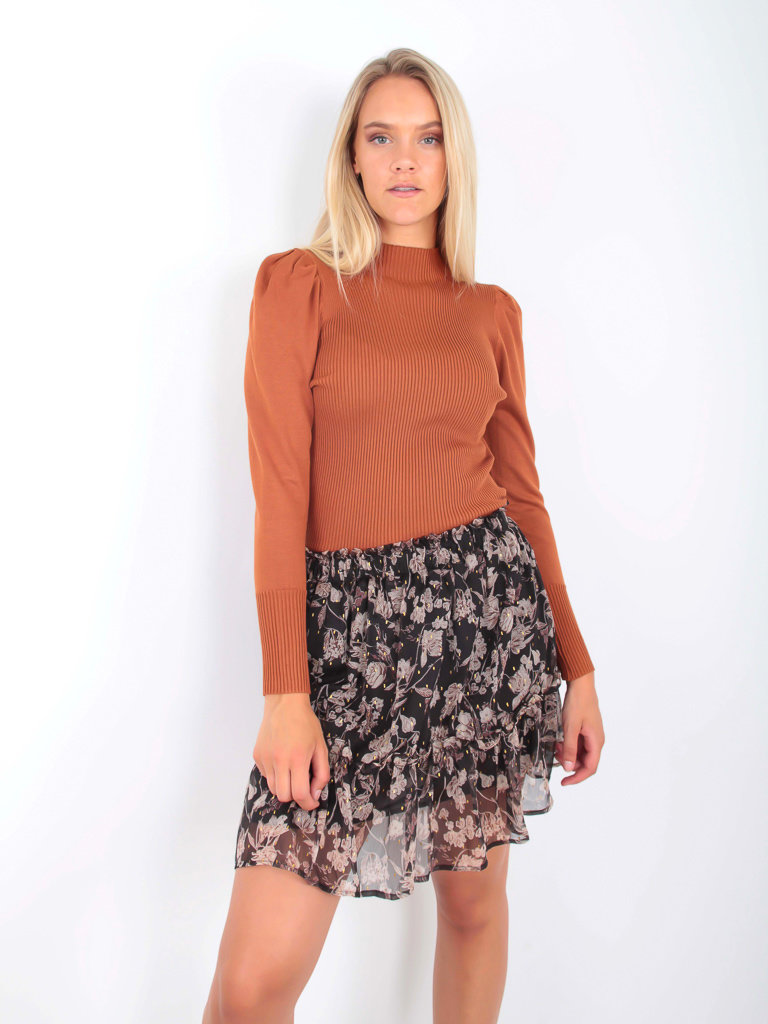 YU & ME Jumper Puff Sleeve Orange