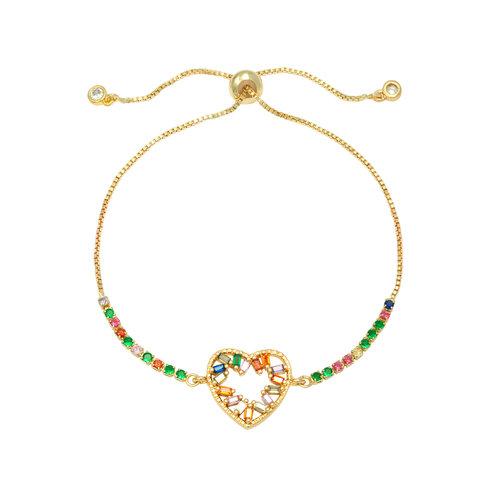 LADYLIKE FASHION Bracelet Zirconia Heart