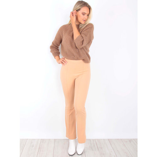 IVIVI Flared Trousers Beige