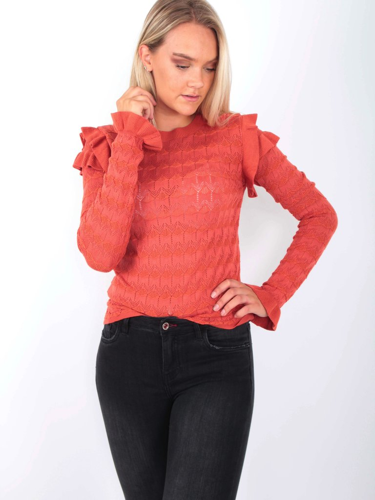 EMMA & ASHLEY Ajour Knit Jumper Bruin