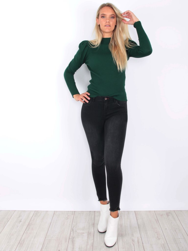 QUEEN HEARTS - LADYLIKE FASHION Skinny Jeans Fray Hem 690