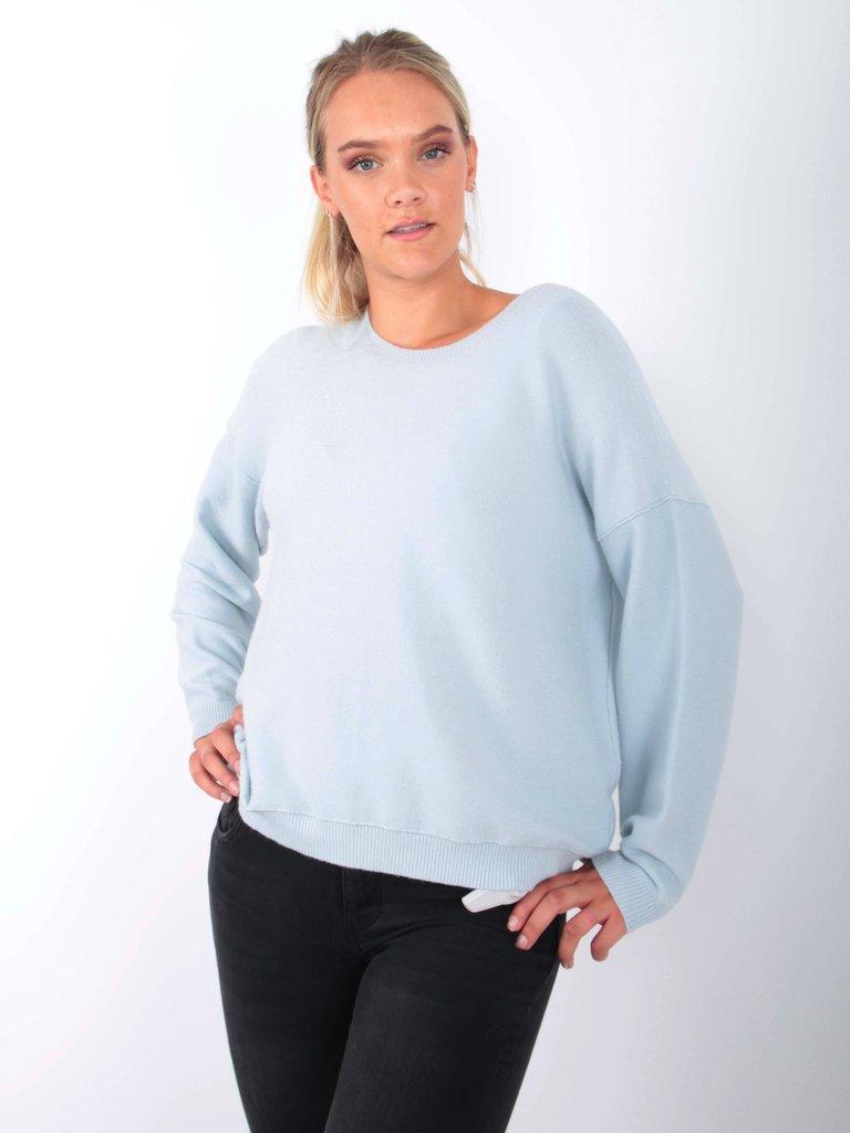 AN'GE - LADYLIKE FASHION Jumper Louisa Light Blue