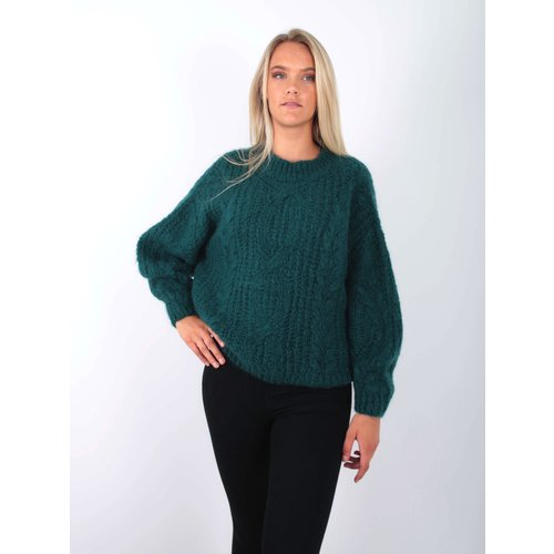 NAÏS - LADYLIKE FASHION Cable Knit Jumper Aqua