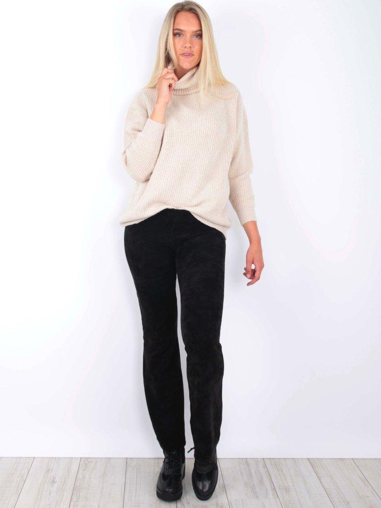 EIGHT PARIS - LADYLIKE FASHION Flared Pants Velvet Black