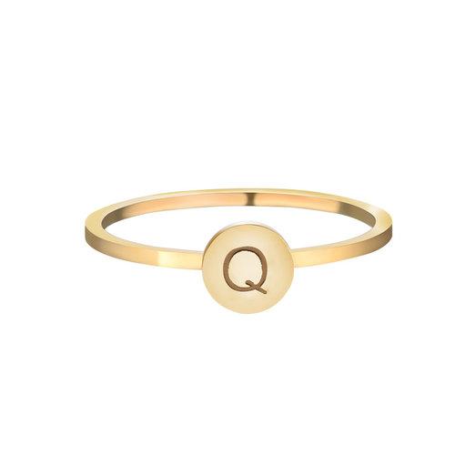 LADYLIKE FASHION Ring Initials Q #17