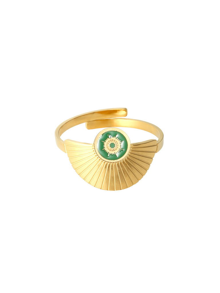 LADYLIKE FASHION Ring Happiness Green