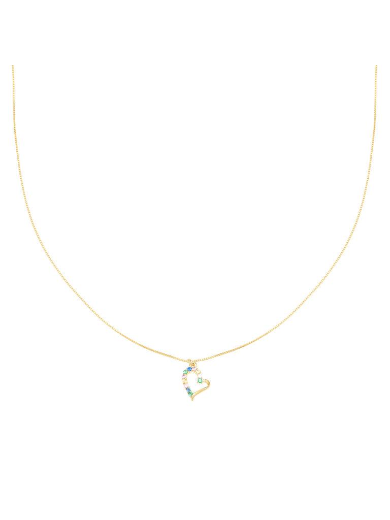 LADYLIKE FASHION Necklace Colorful Heart