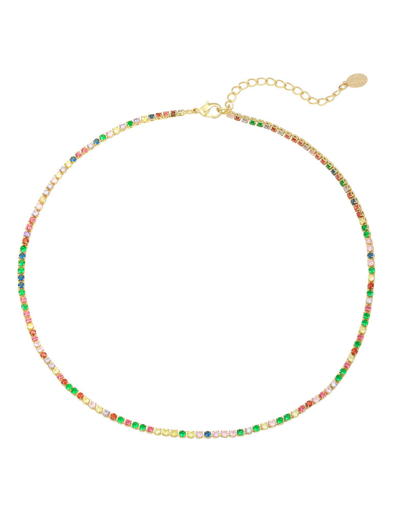 LADYLIKE FASHION Necklace Round with Color