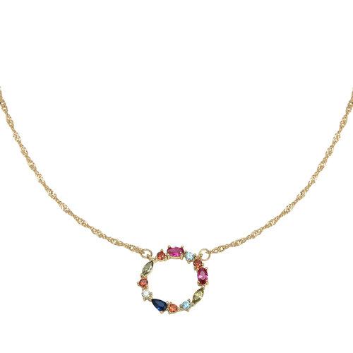 LADYLIKE FASHION Necklace Zirconia Colour