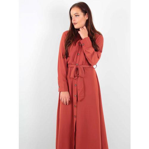 Dolssaci Maxi Dress Buttons Red