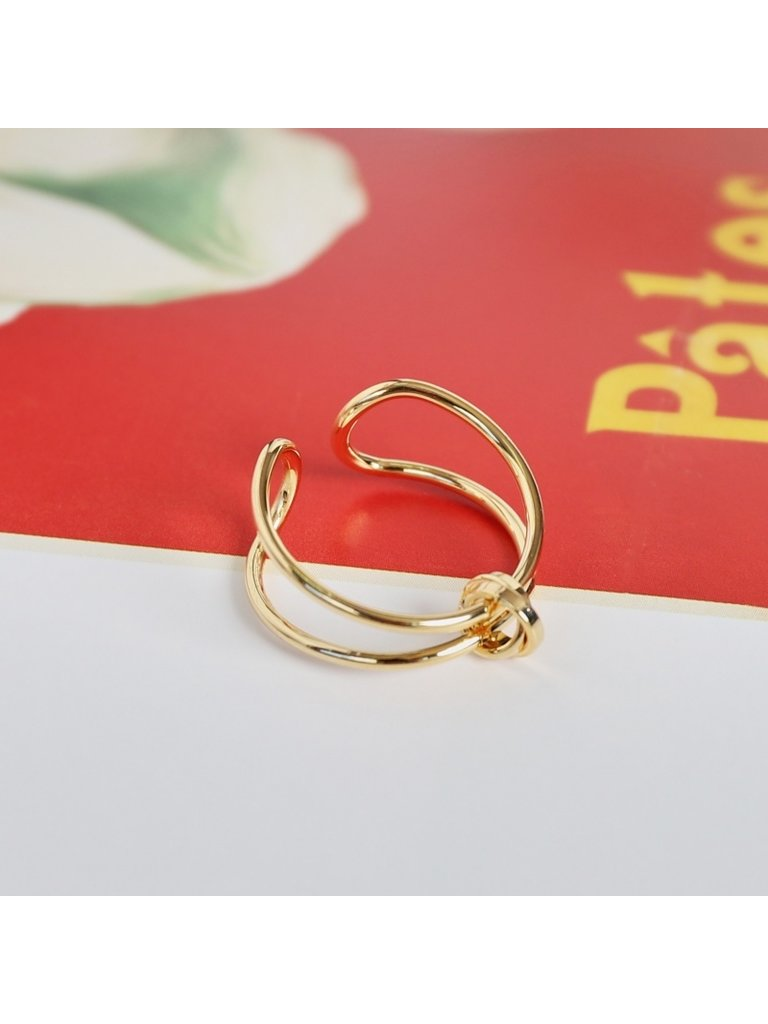 LADYLIKE FASHION Ring Connected Lines