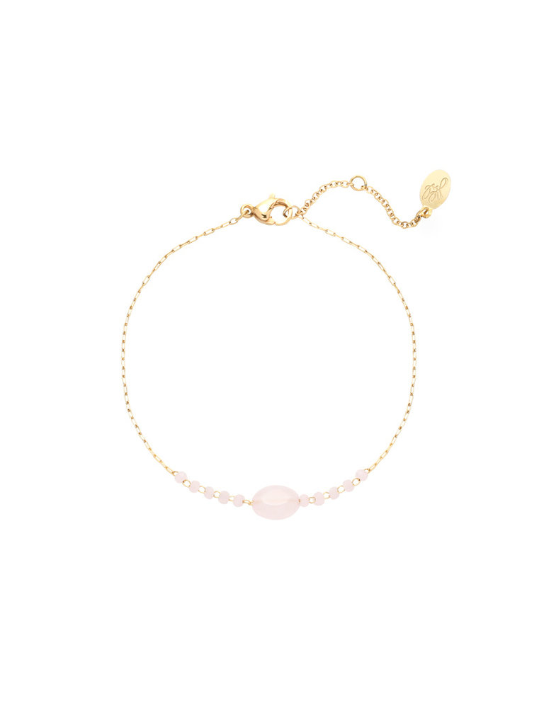 LADYLIKE FASHION Bracelet Go with the Stone Pink