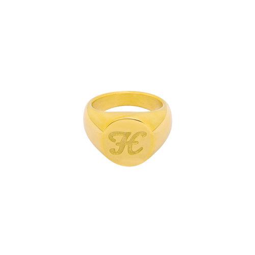 LADYLIKE FASHION Ring Initial H Signet Ring Gold
