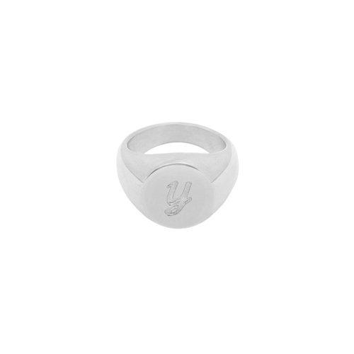 LADYLIKE FASHION Ring Initial Y Signet Ring Silver