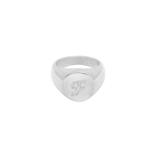 LADYLIKE FASHION Ring Initial F Signet Ring Silver