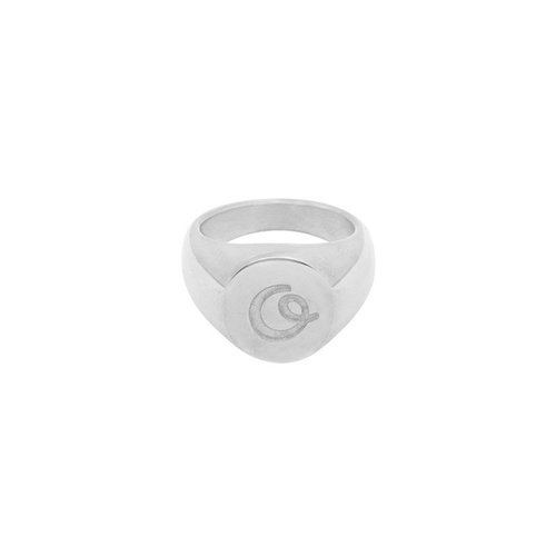 LADYLIKE FASHION Ring Initial O Signet Ring Silver