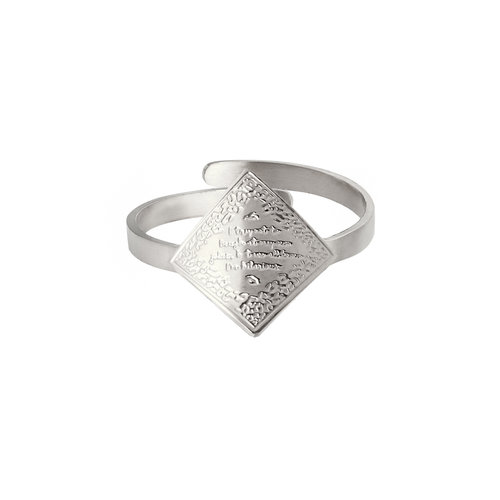 LADYLIKE FASHION Ring I'm Hilarious Silver