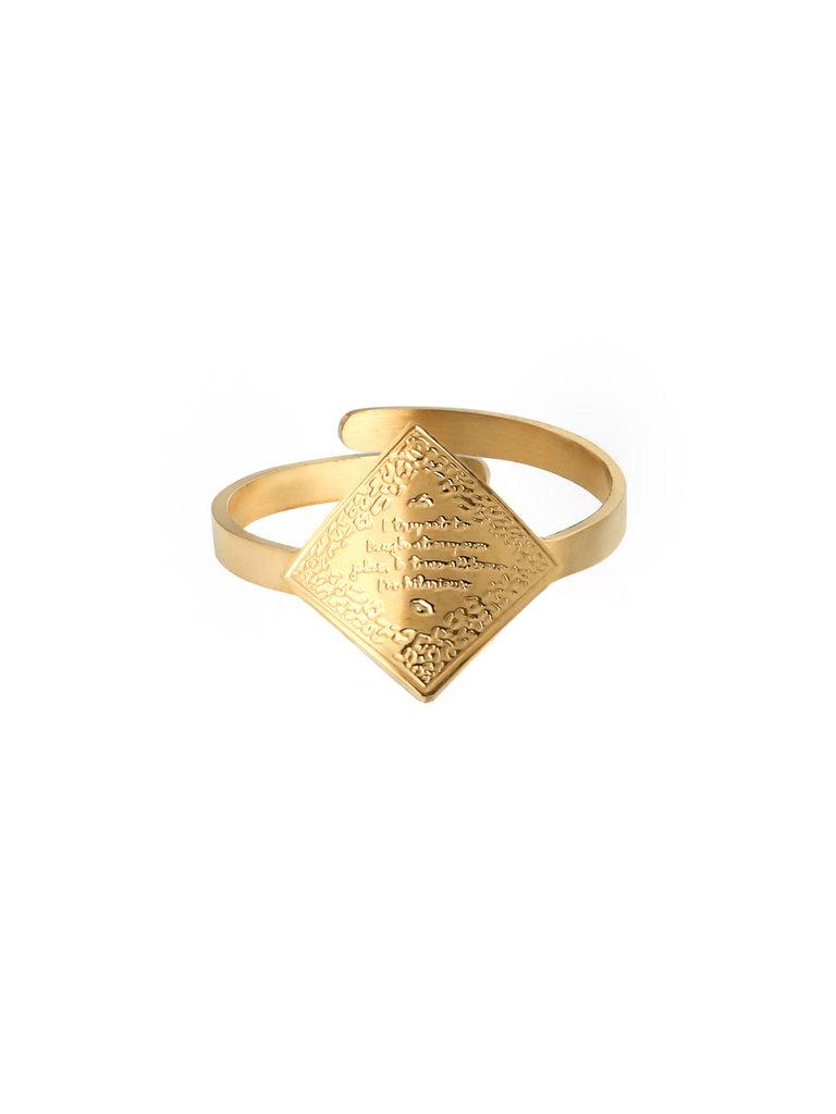 LADYLIKE FASHION Ring I'm Hilarious Gold