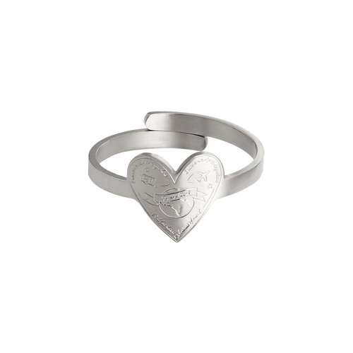 LADYLIKE FASHION Ring Love To Travel Silver