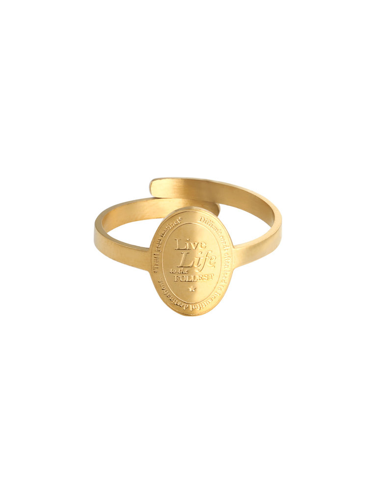 LADYLIKE FASHION Ring To The Fullest Gold