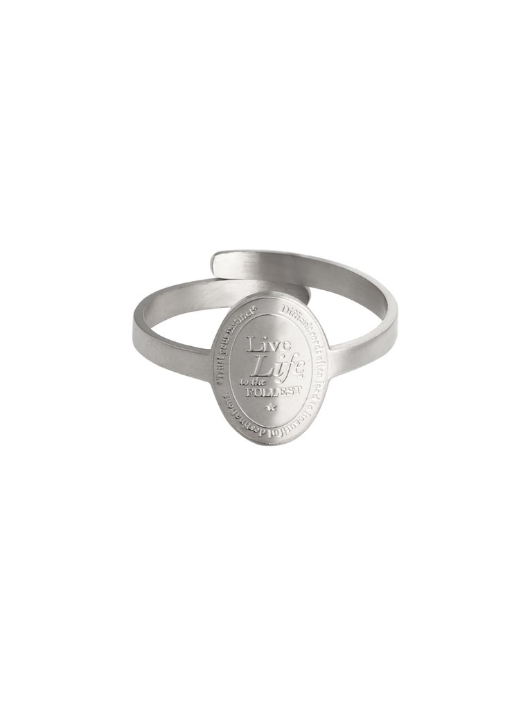 LADYLIKE FASHION Ring To The Fullest Silver