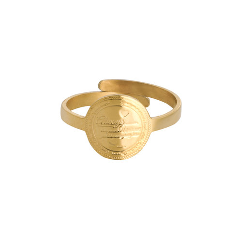 LADYLIKE FASHION Ring You're Unique Gold
