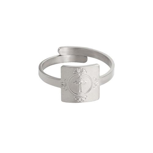 LADYLIKE FASHION Ring Cross My Fingers Silver