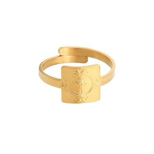 LADYLIKE FASHION Ring Cross My Fingers Gold