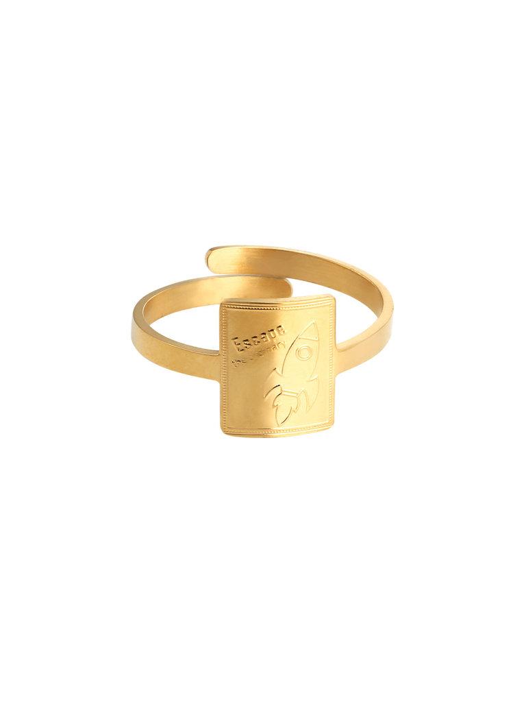 LADYLIKE FASHION Ring Rocket Power Gold
