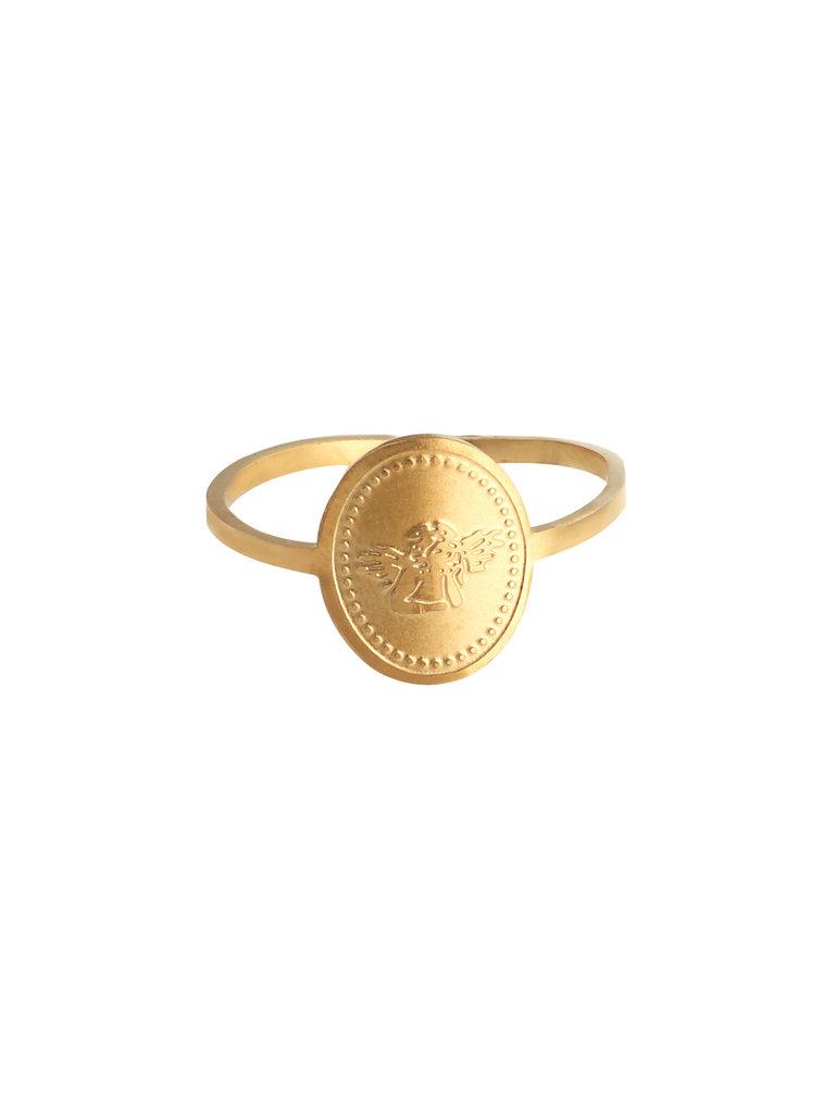 LADYLIKE FASHION Ring Little Angel Gold