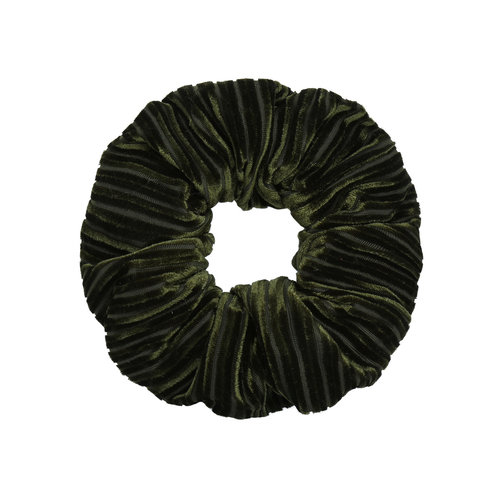 LADYLIKE FASHION Scrunchie Crushed Velvet Green