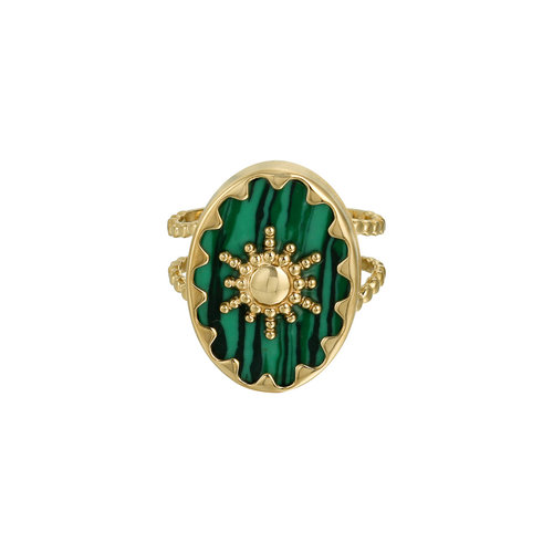 LADYLIKE FASHION Ring Ray of Light Green