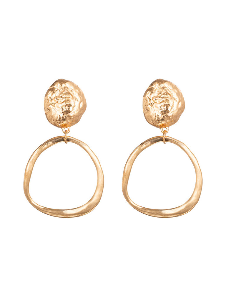 LADYLIKE FASHION Earrings Nature Rock Gold