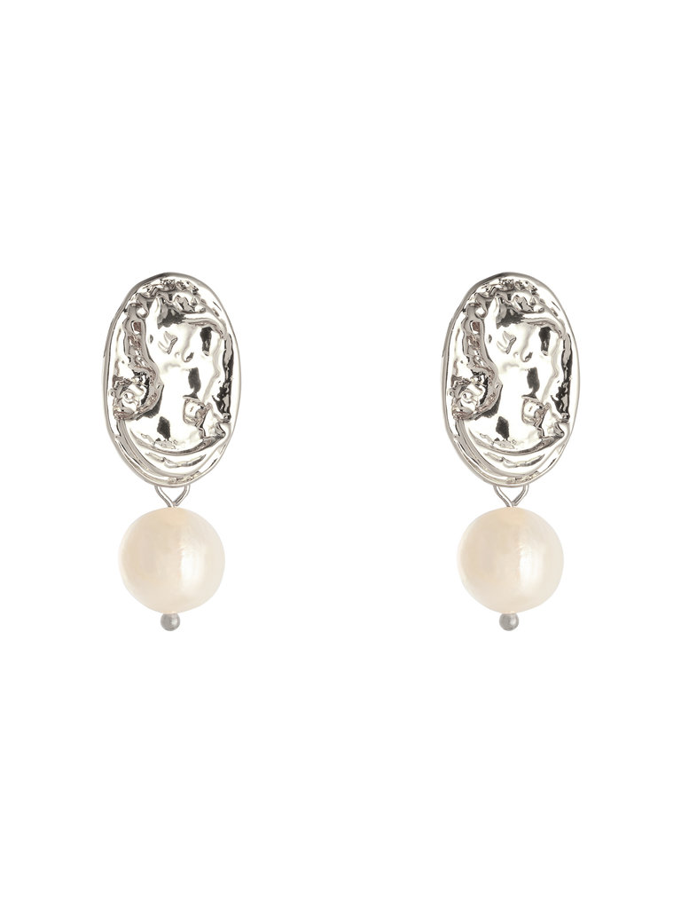 LADYLIKE FASHION Earrings Fancy Pearl Silver