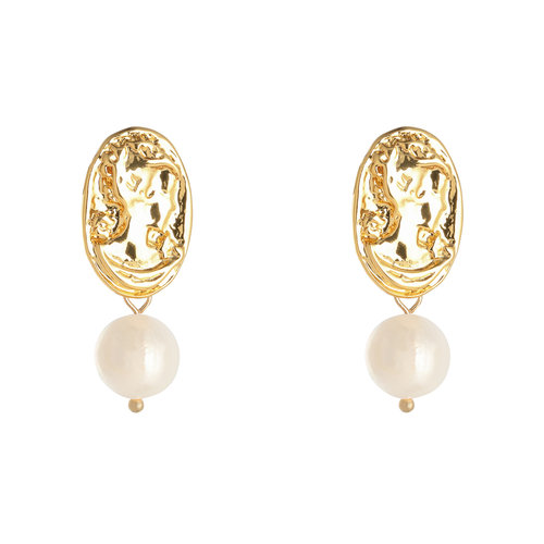 LADYLIKE FASHION Earrings Fancy Pearl Gold