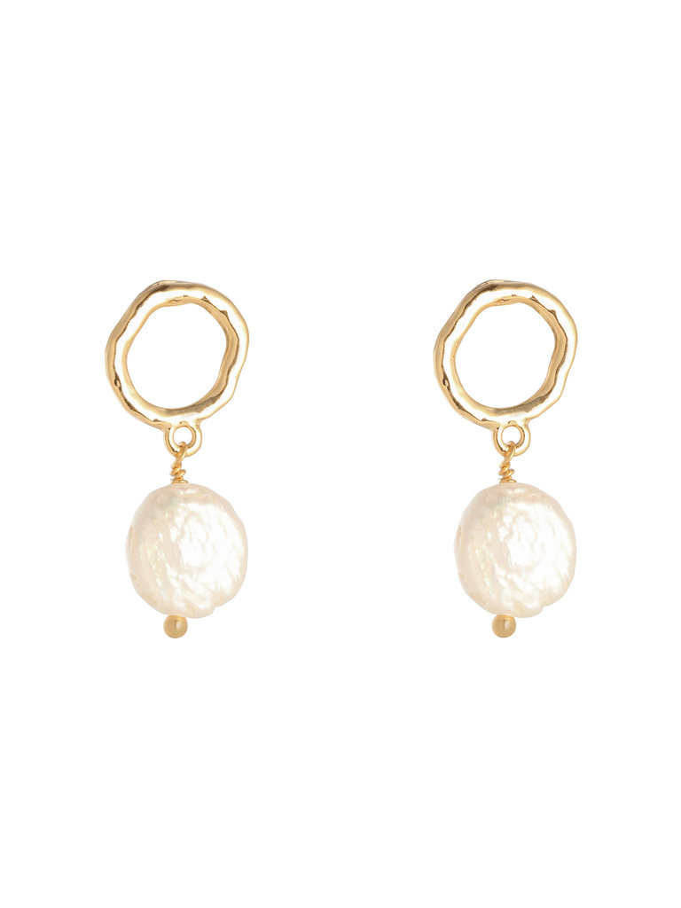 LADYLIKE FASHION Earrings Shiny Pearl Gold